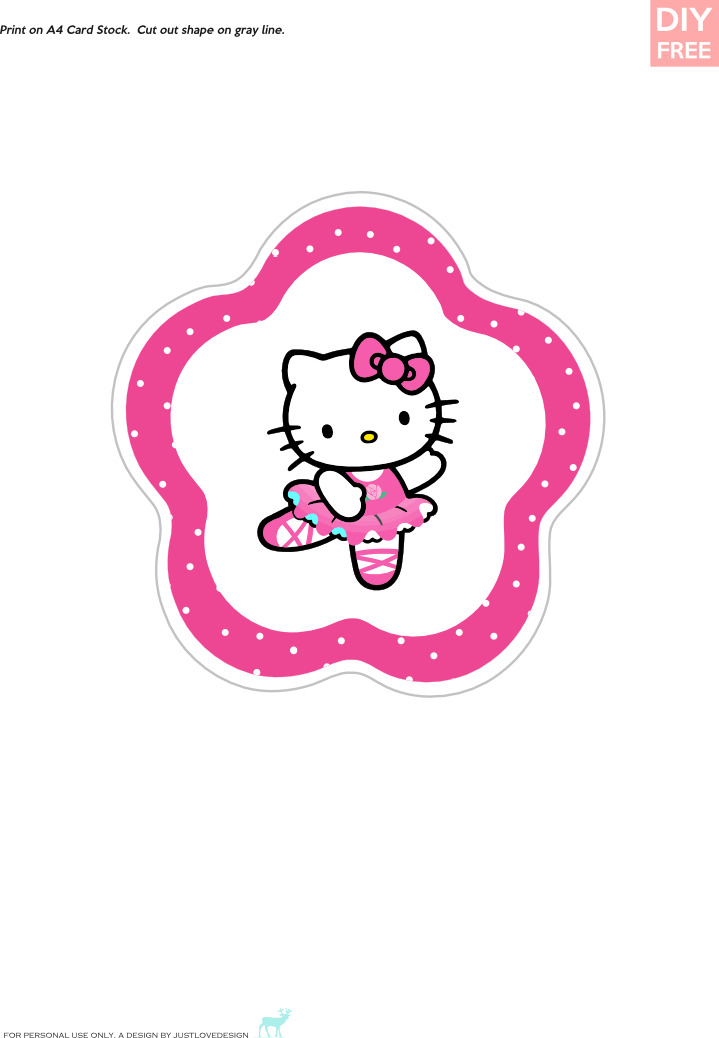 Diy free hello kitty cupcake toppers download for Hello kitty cupcake topper template