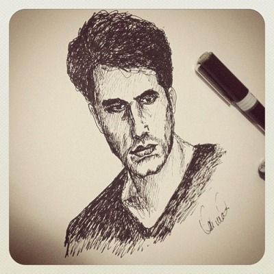 John Mayer, handsketched by moi ;)