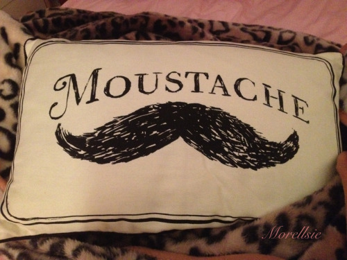 morellsie:  Moustache.  Love this!