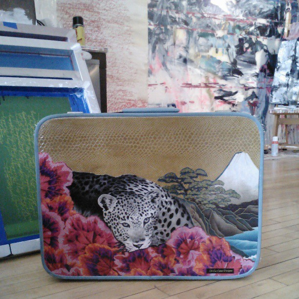 love this #collage #suitcase by #delalunadesigns