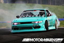 Roland Gallagher's #S13 #Silvia with #BNSports blister kit and MEAN SSR Koenig wheels! (via PERSPECTIVE> Comrades Invade Formula D Seattle! – MotorMavens | Car Culture and Photography)