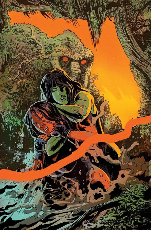 Man Thing, Red She Hulk, and She Hulk By FRANCESCO FRANCAVILLA