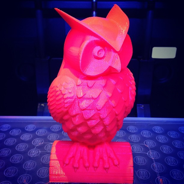 Hindmarch created Hedwig on the #makerbot @thesingingbaker influenced of course! #OwlNut #cksk (@benhindmarch)  (at CKSK)