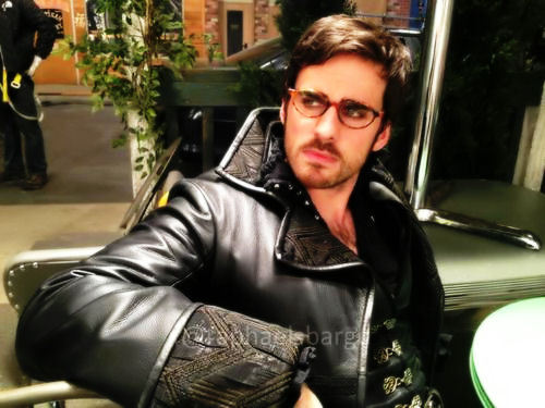 Colin loves Archie's glasses, just sayin'. Photo comes from Raphael Sbarge's Facebook.