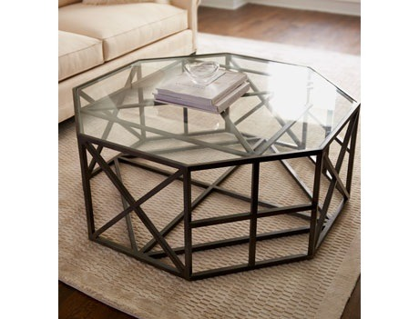 Octagon coffee table.  So many angles and shapes, I love it! This will be a wonderful addition to my future home:) Purchase here for $899.