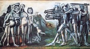 "determinatenegation:  Pablo Picasso - Massacre in Korea""In 2008 the South Korean Truth and Reconciliation commission found 1,222 instances of mass killings, with at least 215 of these involving U.S. troops or airplanes massacring unarmed civilians. At Cheongwon in central Korea, up to 7,000 people were slaughtered."" The U.S. committed an uncountable amount of acts designated as ""war crimes"", including widespread use of chemical and biological weapons such as the plague, and intentionally destroying hydroelectric dams that provided drinking water for 75% of the population. In total around 5 million Koreans lost their lives. Remember No Gun Ri, Jeju, Yeosun, and the countless other instances of mass extermination by the U.S.  Pablo was a commie. It's unfathomable how many talented, intelligent people fell victim to this endemic disease of the previous century. And yes, their lack of foresight does not make US crimes less heinous."