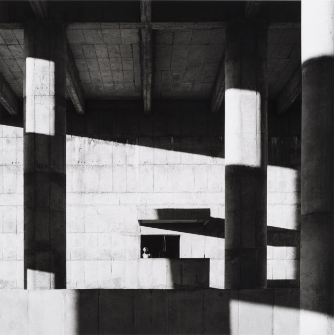 Lucien Hervé, Le Corbusier  Façade of the Secretariat Building, Chandigarh, 1961