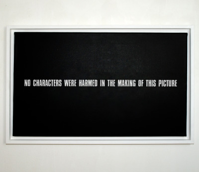 """no characters were harmed in the making of this picture"" by anatol knotek anatol.cc @visuellepoesie"