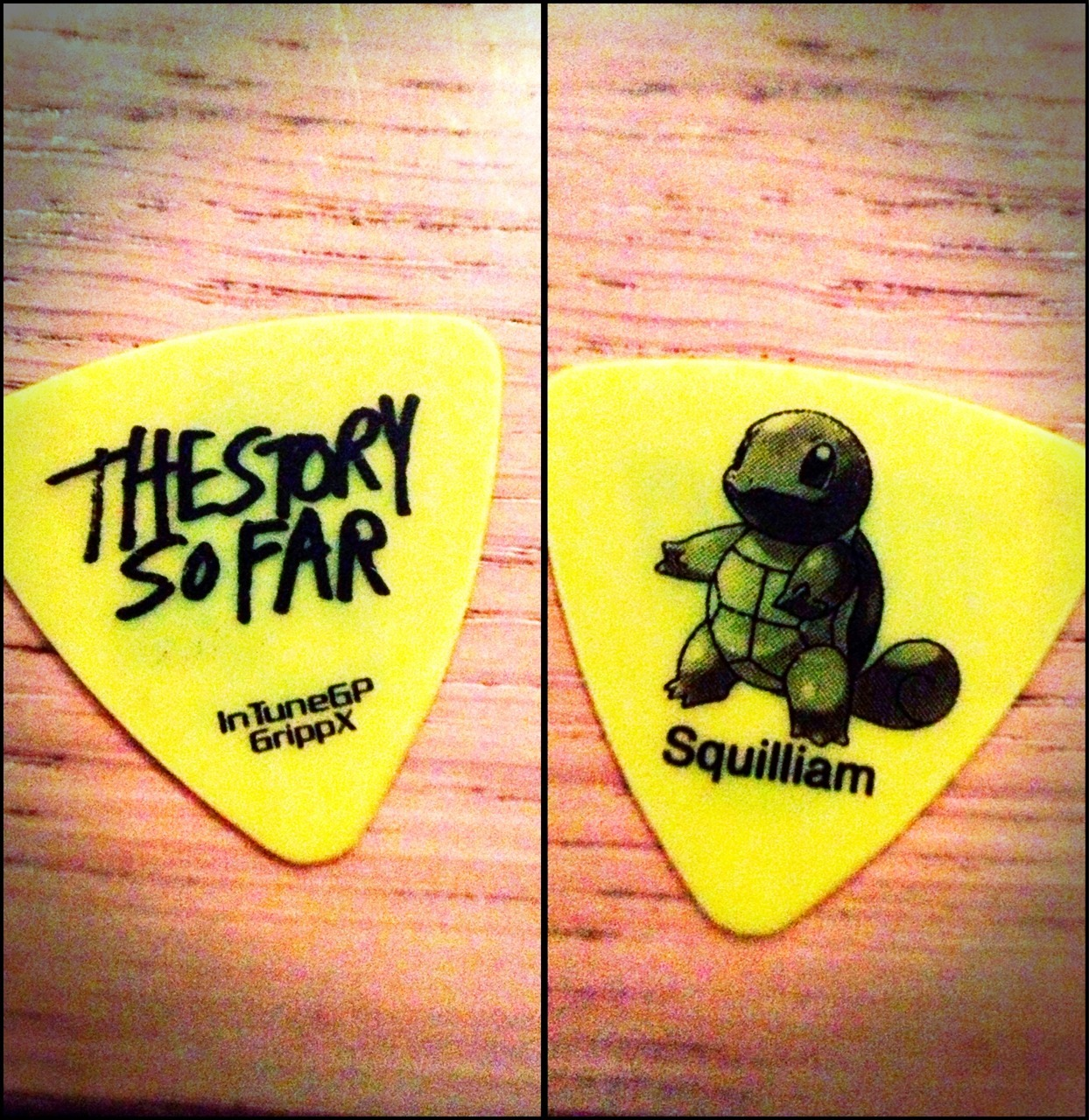 therightnotes:  Got this guitar pick at the the story so far show at Groezrock. pretty cool to have this:)