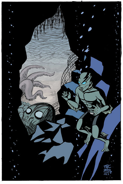 Abe Sapien (colour) on Flickr.