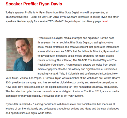 Looking forward to speaking at TEDXMaristCollege on how social media has made us all leaders now.