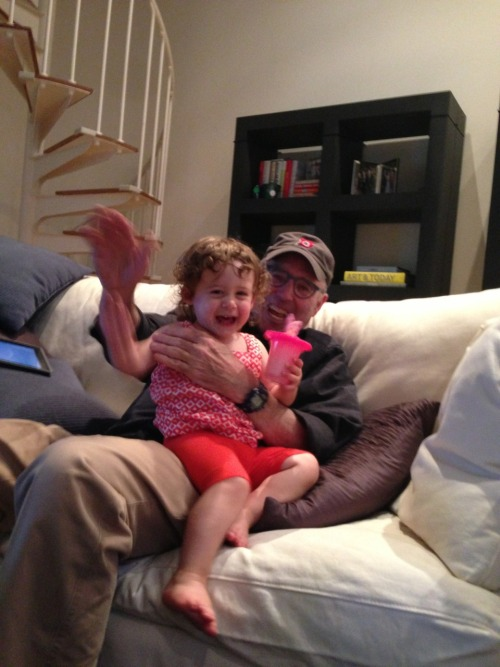 Chloe had a blast hanging out with Grandpa Buddy today.  We spent the rainy day blowing bubbles indoors and Buddy tried to explain to Chloe why the 17th hole at The Players Championship is so special.