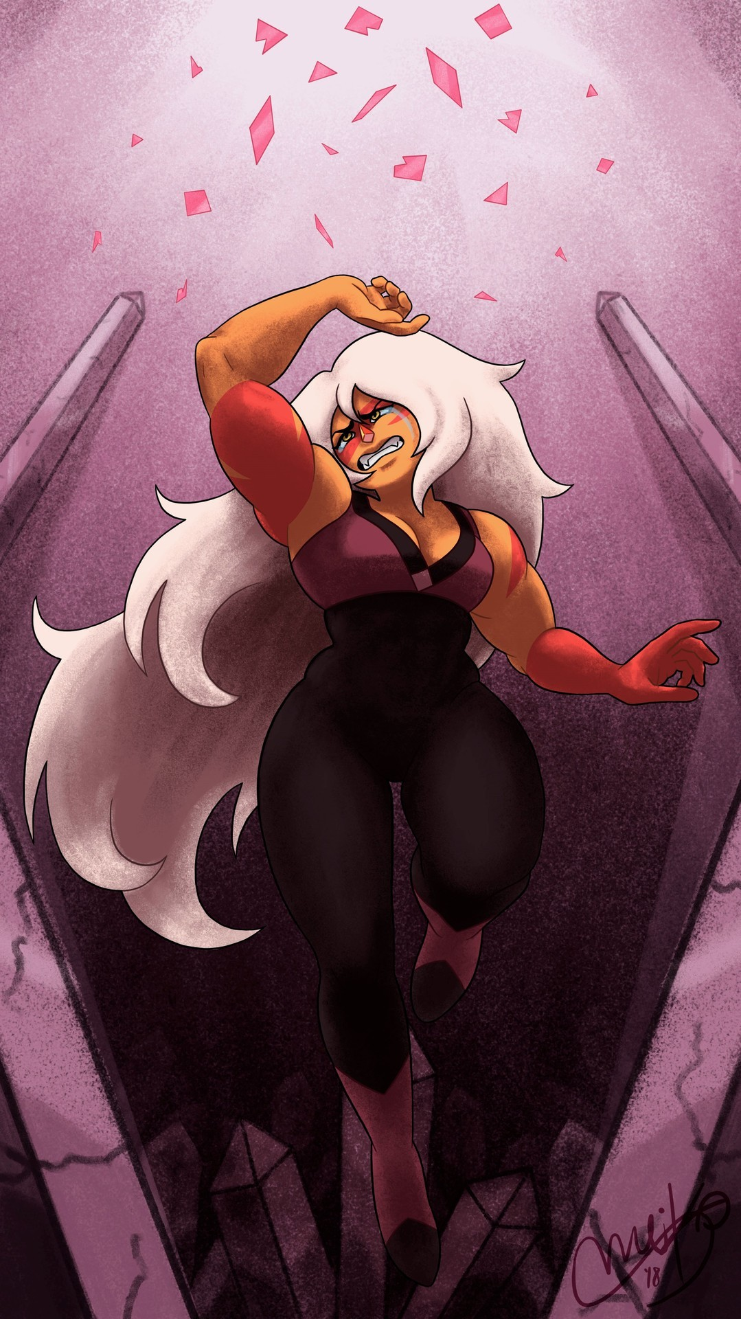 Jasper and Pink's shattering