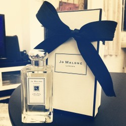 Yay! Birthday gift from Mom! Jo Malone London: Lime Basil & Mandarin Cologne.