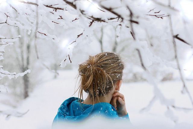 to embrace the cold that comes after by Rona Keller on Flickr.