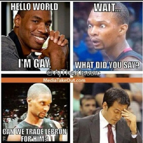 Bosh has no chill lmaooo #Suspect #Heat