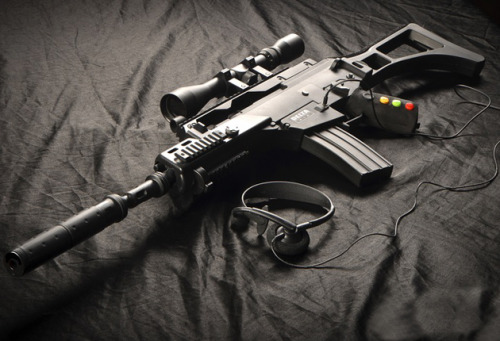 Delta Six FPS Gaming Controller Shaped like an actual assault rifle, the Delta Six was introduced to make you feel like you are actually part of the game you are playing. Compatible with the Xbox 360, Playstation 3 and even PC games, the AR controller integrates all of the game's controls right into the gun, and also produces gun recoil when a shot is fired,  allows you strafe from side to side by titling the gun, reload by tapping the magazine clip, and so much more. Head on over to Kickstarter to support the project.
