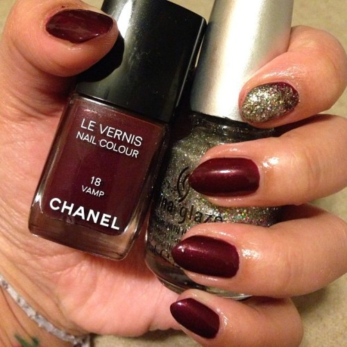 new polish #Chanel #Vamp #ChinaGlaze #RayDiant #nails #nailpolish #nailsdid
