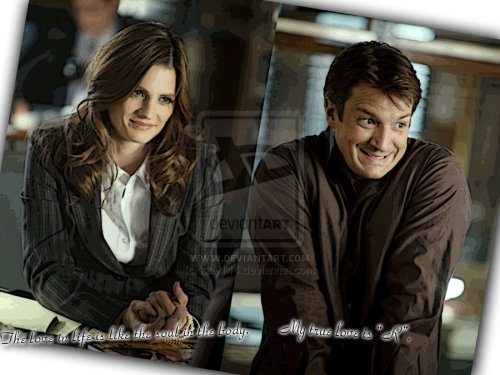 #Castle #Caskett #StanaKatic #NathanFillion #KateBeckett #RichardCastle I love you