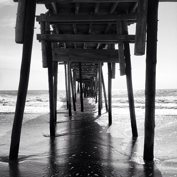 Under Avon Pier. (at Avon Fishing Pier)