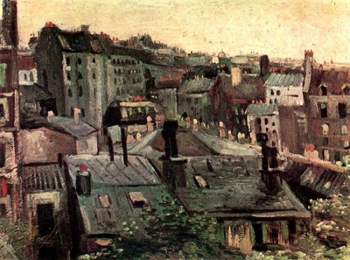 Vincent van Gogh:  View of Roofs and Backs of Houses. Paris: Spring 1886