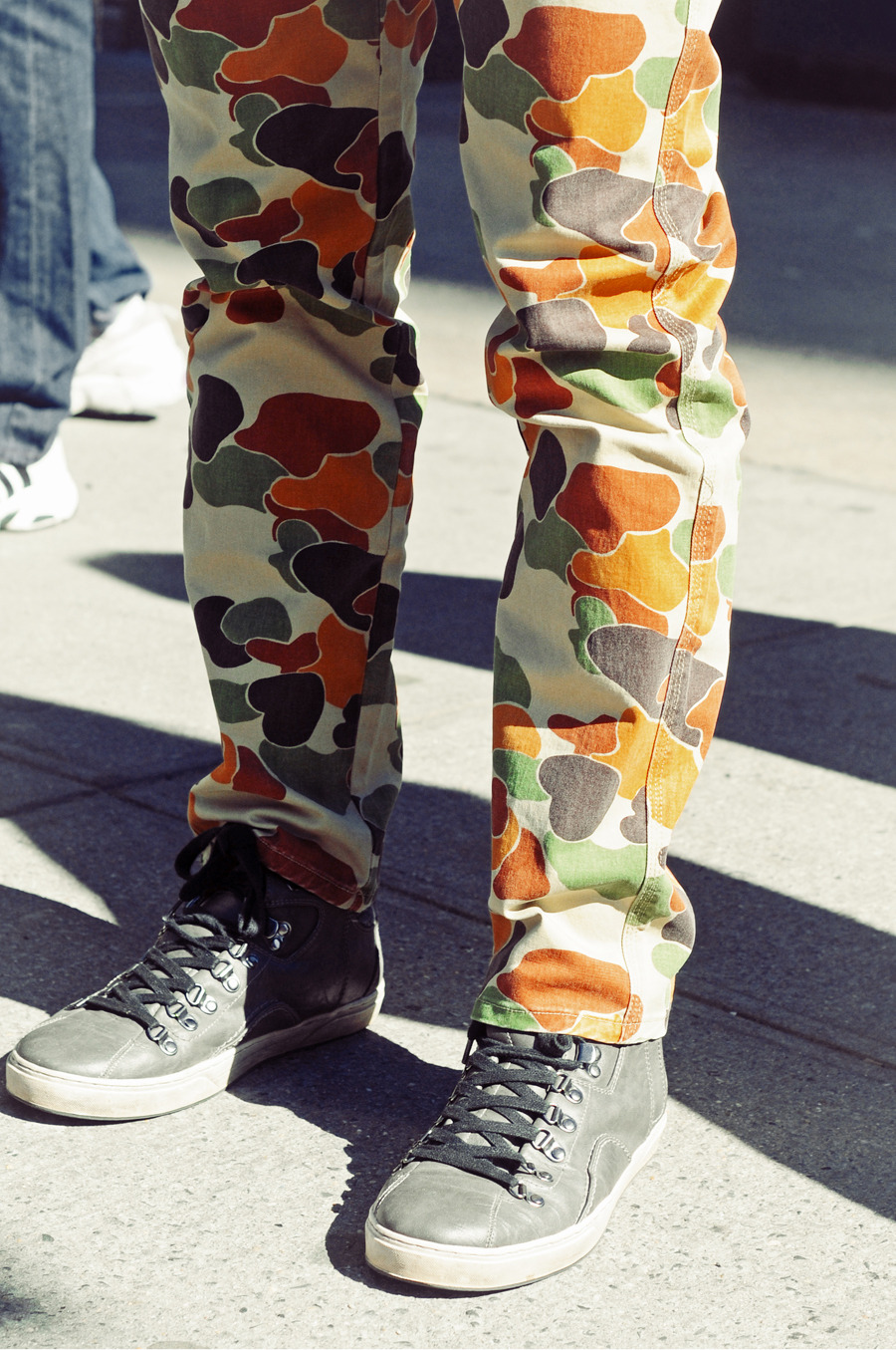Camo pants at The Meatpacking District.