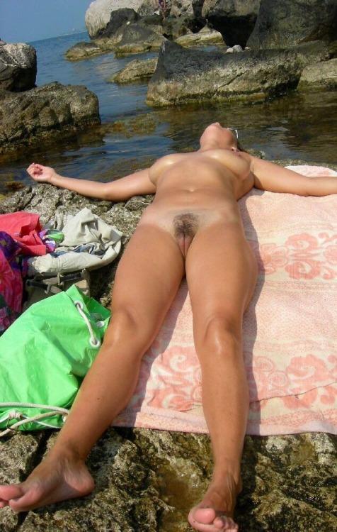 Sun bathing beauty