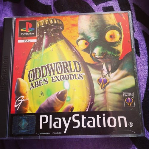 Anyone remember this game ? It was awesome ! #game #playstation #abe  #old #retro #oddworld #awesome #ipad #oldschool #instahub #instalike
