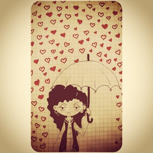 #whitagram #girl #heart #love #rain #umbrella #drawing #draw #art #paint #painting #red #illustration #cute #photography #instamood #instagood #instacool #instagramers #igbrasil #igers #likeforlike #like4like #l4l #tagsforlikes
