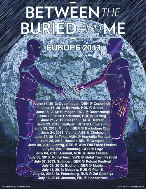 We're coming back to Europe this summer!