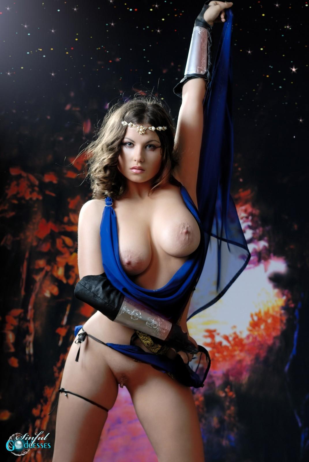 Fantasy nude elf cosplay