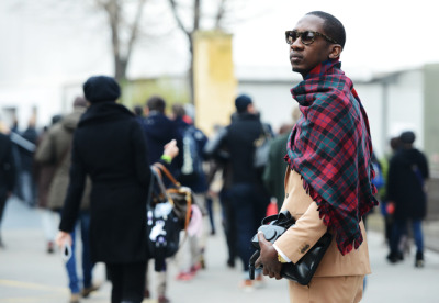 Taking a cue from Kanye West, Lil B checked out Pitti Uomo.