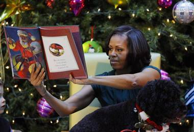 First lady gives kids a special thrill for Christmas (Photo: Gary Cameron / REUTERS) Kids anxious to learn when Santa would arrive got an update from a surprise guest this year when first lady Michelle Obama fielded their phone calls. Read the complete story.