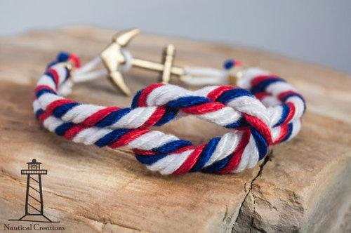 anchor sailor beach ocean knot bracelet rope bracelet preppy bracelet nautical sea anchor bracelet knot rope summer nautical rope bracelet cute