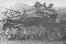 The undermining of the Soviet T-62M tank