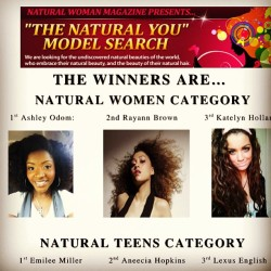 "I won the ""Natural You"" model search for Natural Woman magazine!!! Like seriously, my mouth had dropped and I'm beyond excited!! Thank you to EVERYONE who voted, passed on the word and everything in between!!! Beyond excited and grateful to God for this opportunity!!! #naturalhair #blessed"