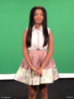 On the set of Look of the Week wearing @boohooUSA!  Thanks  View more Daphne Blunt on WhoSay