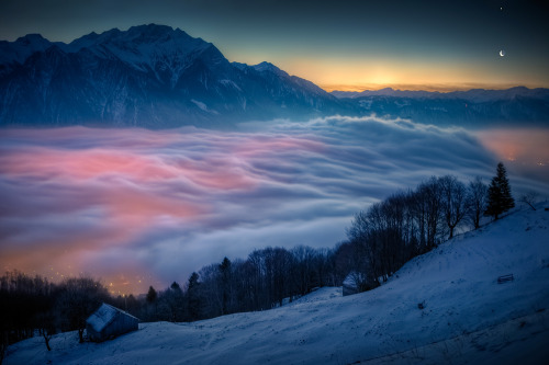 Dawn over Sargans (By David Kaplan)