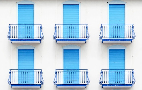 Vibrantly Colored Facades Of Beach Hotels In Venice