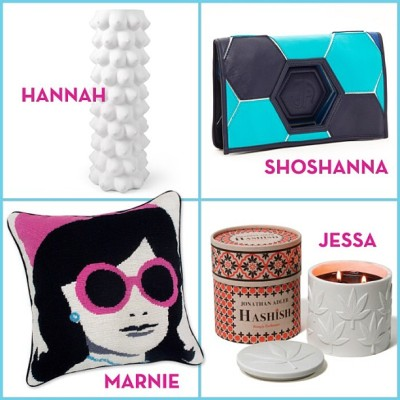 jonathanadler:  In honor of the @girlshbo season finale, here's our JA pick for each of the ladies. What would you give them? (cc: @lenadunham) AT  Hannah's is so accurate, though.