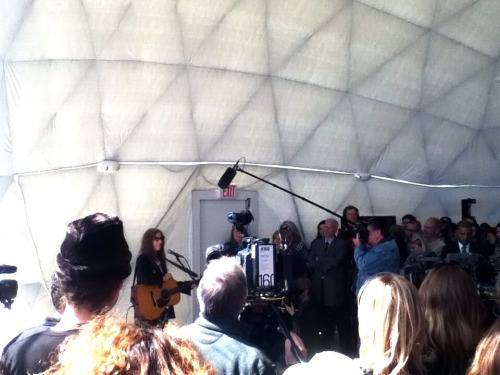 Patti Smith at the Rockaway Moma Dome.