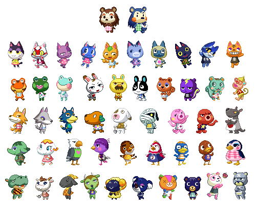 animal crossing pixels | Tumblr - Pixel Art Animal Crossing