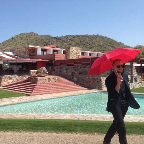 noseworthy at frank lloyd wright summer home in scottsdale, az (taken by Crash)