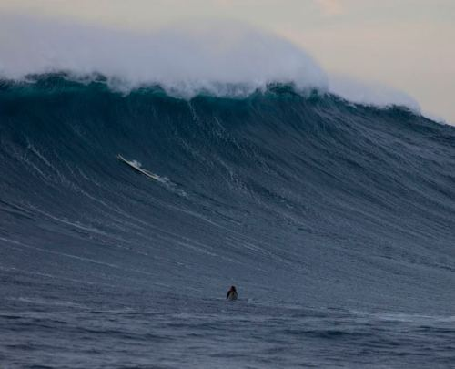 "Big Wave Surfer's X-Mas Gift: Survival:""Greg Long almost missed Christmas this year. On Dec. 22 he was surfing at a rare monster storm swell at one of Earth's most treacherous and remote big wave spots: Cortes Bank, miles off the coast of southern California. He fell from his board in the middle of a series of 25-foot-tall waves that came crashing down around him.""  That's one lucky surfer!"