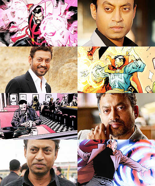 MARVEL FANCAST   Irrfan Khan » Stephen Strange    AND Charles Xavier AND Doctor Octopus AND Aziraphale AND Crowley AND Bruce Wayne AND Severus Snape AND Abraham Lincoln IRRFAN KHAN FOR EVERY CHARACTER YOU EVER LOVED