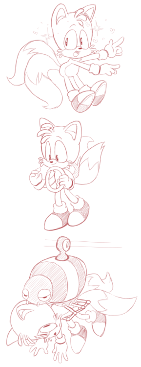 Tails practice sketches ' w '