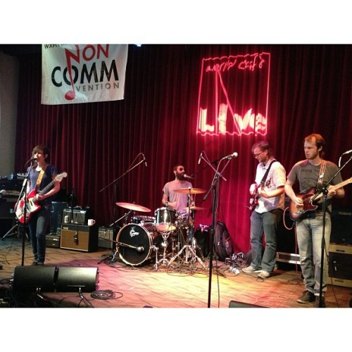 Always good to see @mountmoriahband, this time at #Noncomm! @wxpnfm @mergerecords