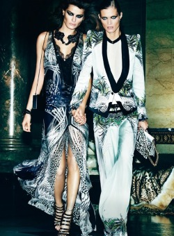 Isabeli Fontana and Malgosia Bela by Mario Testino for Roberto Cavalli