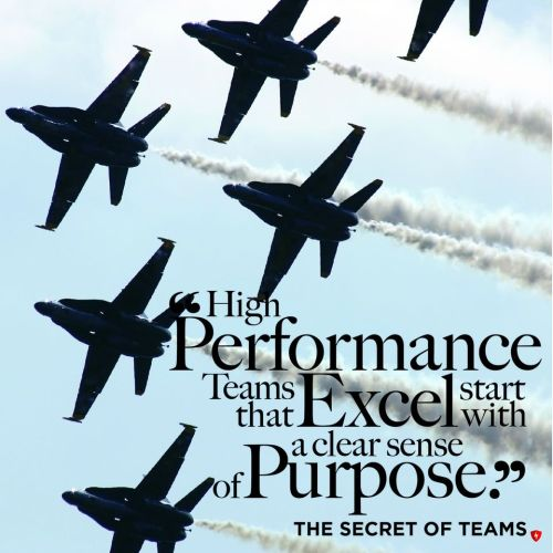 High performance teams that excel start with a clear sense of purpose.