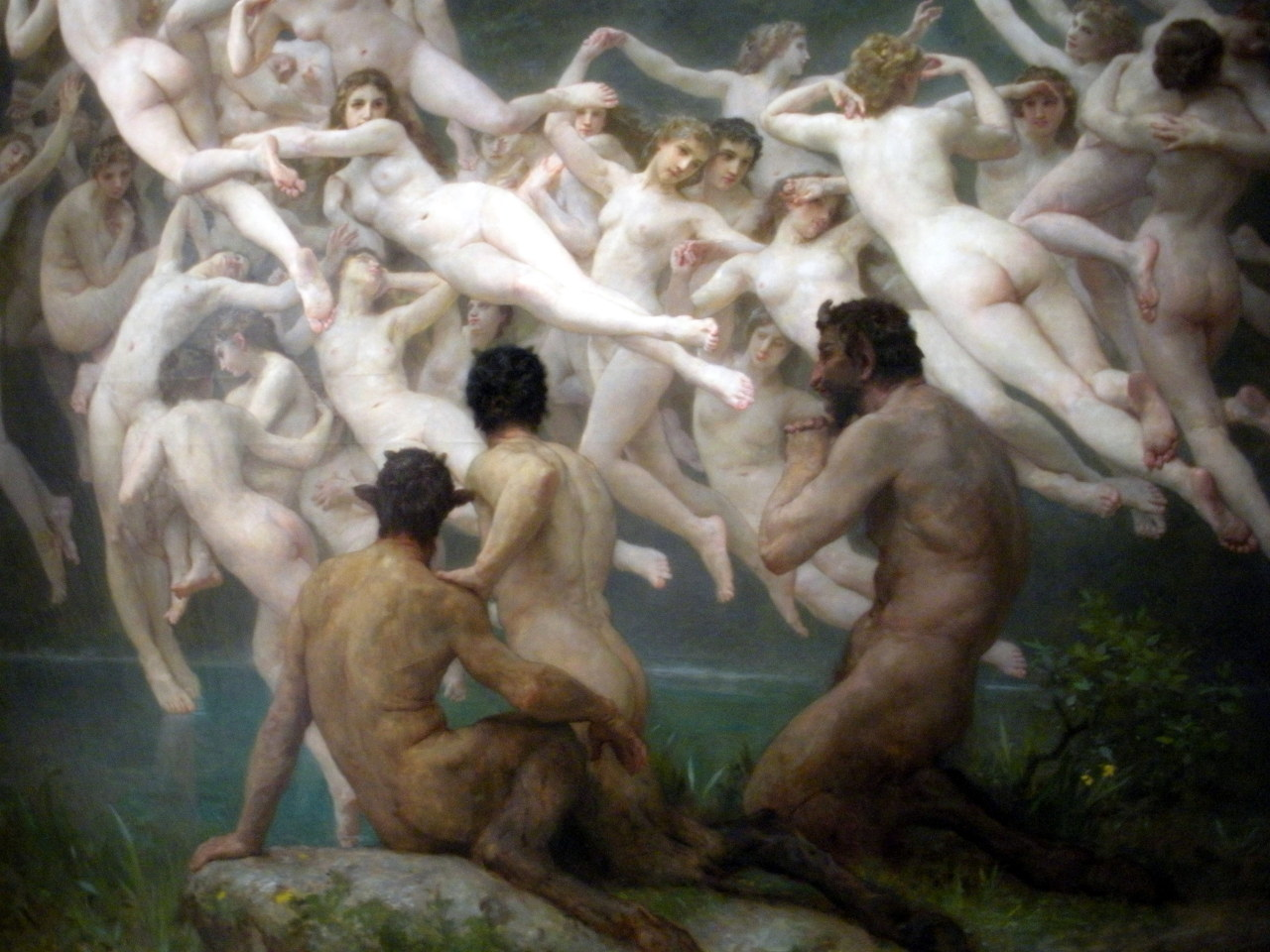 The Oreads, William Bouguereau